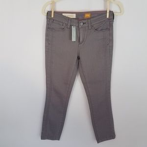 Anthro Pilcro Gray Crop Jeans The Stet Sz 25P NWT